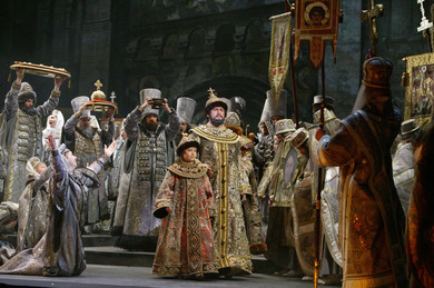 """Modest Mussorgsky ""Boris Godunov"" opera in four acts with a prologue (version of 1872)"""