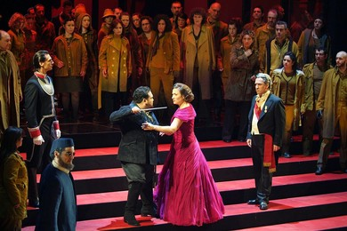 """Giuseppe Verdi ""Simon Boccanegra"" (opera in 3 acts). Co-produced by La Fenice Opera House and Carlo Felice Theater of Genoa"" Opera"